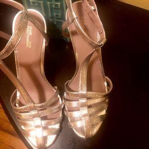 DVF Silver Heels